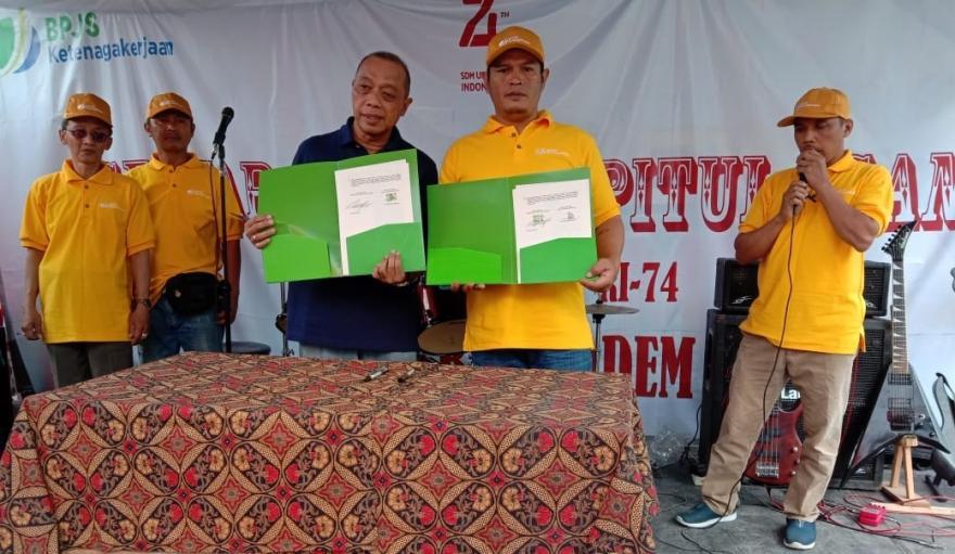 Image : Desa Banyuadem Jalin Kerjasama Dengan BPJS Ketenagakerjaan