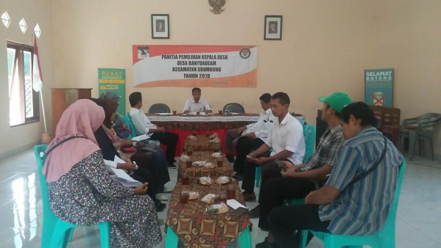 Image : Pemutakhiran DPT Pilkades Desa Banyuadem Sudah Pleno , Warga Dihimbau Gunakan Hak Pilihnya.