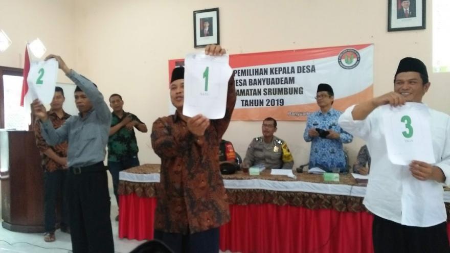 Image : Deklarasi Damai, 3 Calon Kades Komitmen Sukseskan Pikades Banyuadem Yang Adem Ayem dan Bebas Money Politic