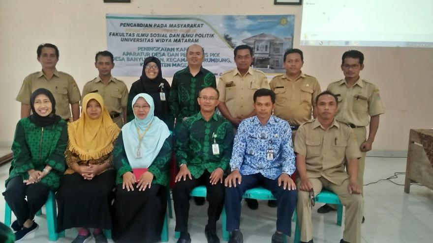 Image : Upaya Tingkatkan Kapasitas Aparatur Desa Melalui Pengabdian Pada Masyarakat Universitas Widya Mataram Yogyakarta Di Desa Banyuadem